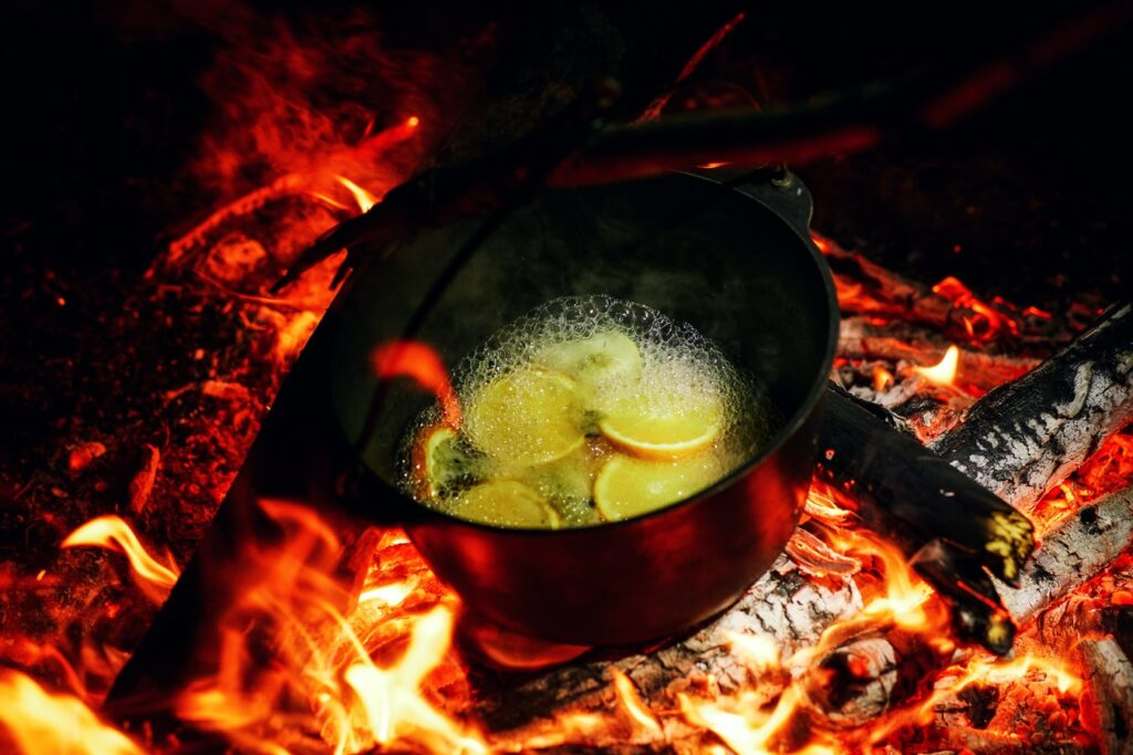 Suppe på bål
