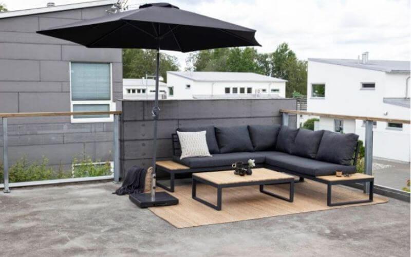 Parasol til loungesæt