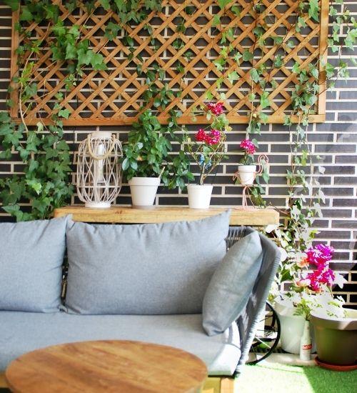 Sofa på terrasse